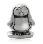 Zilveren Bedel Cute Penguin
