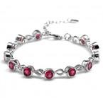 NIEUW Zilveren Armband Ruby