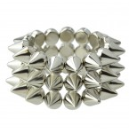 Armband Silver Spikes