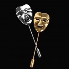 Broche Happy Mask