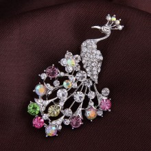 Broche Crystal Peacock
