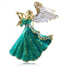 Broche Angel with a Horn