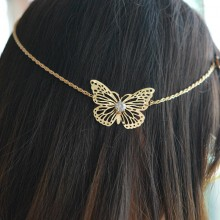 Haarketting Golden Butterfly
