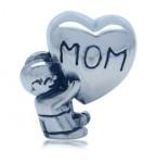 Zilveren Bedel Moeder en Hart
