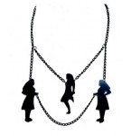 Ketting Three Jumping Girls