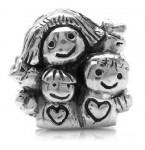 Zilveren Bedel Moeder en Kinderen
