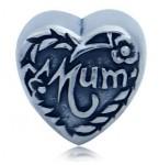 Zilveren Bedel Hart met Moeder