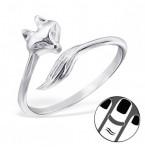 Zilveren Vingertop Ring Foxy