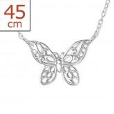 Zilveren Ketting Butterfly