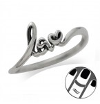 Zilveren Vingertop Ring Loving