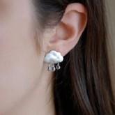 Earrings Clouds and Rain