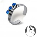 Zilveren Teenring True Blue