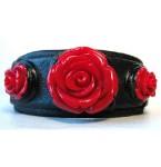Lederen Armband Red Roses