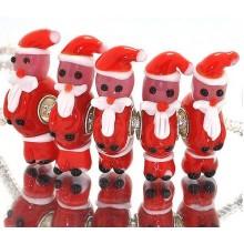 Murano Glasbedel Kerstman 2