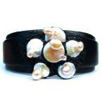Lederen Armband Wild Pearls