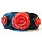 Lederen Armband Coral Roses