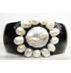 Lederen Armband Pearl Flower