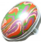 Zilveren Ring Agatha