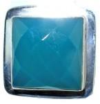 Zilveren Ring Square Chalcedony