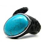 Lederen Ring Turquoise Droom
